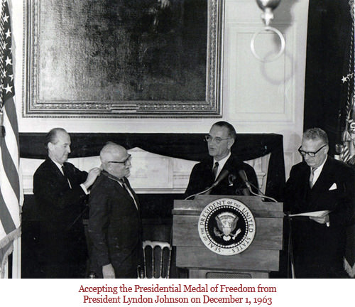 1963 Wilder Accepting Presidential Medal of Freedom