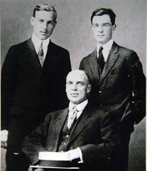Amos Parker Wilder, Amos Niven Wilder, and Thornton Wilder