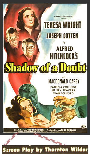 Shadow of a Doubt Poster Wilder Credit