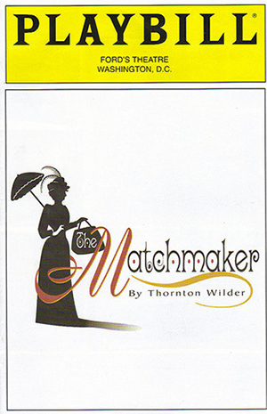 The Matchmaker Ford's Theatre Playbill