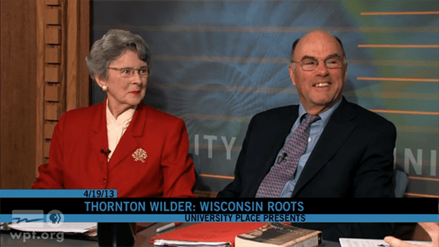 Penelope Niven and Tappan Wilder interviewed for Wisconsin Public Television's University Place Copyright Public Broadcasting Service