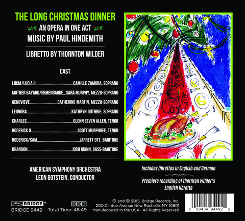 The Long Christmas Dinner CD Back Cover